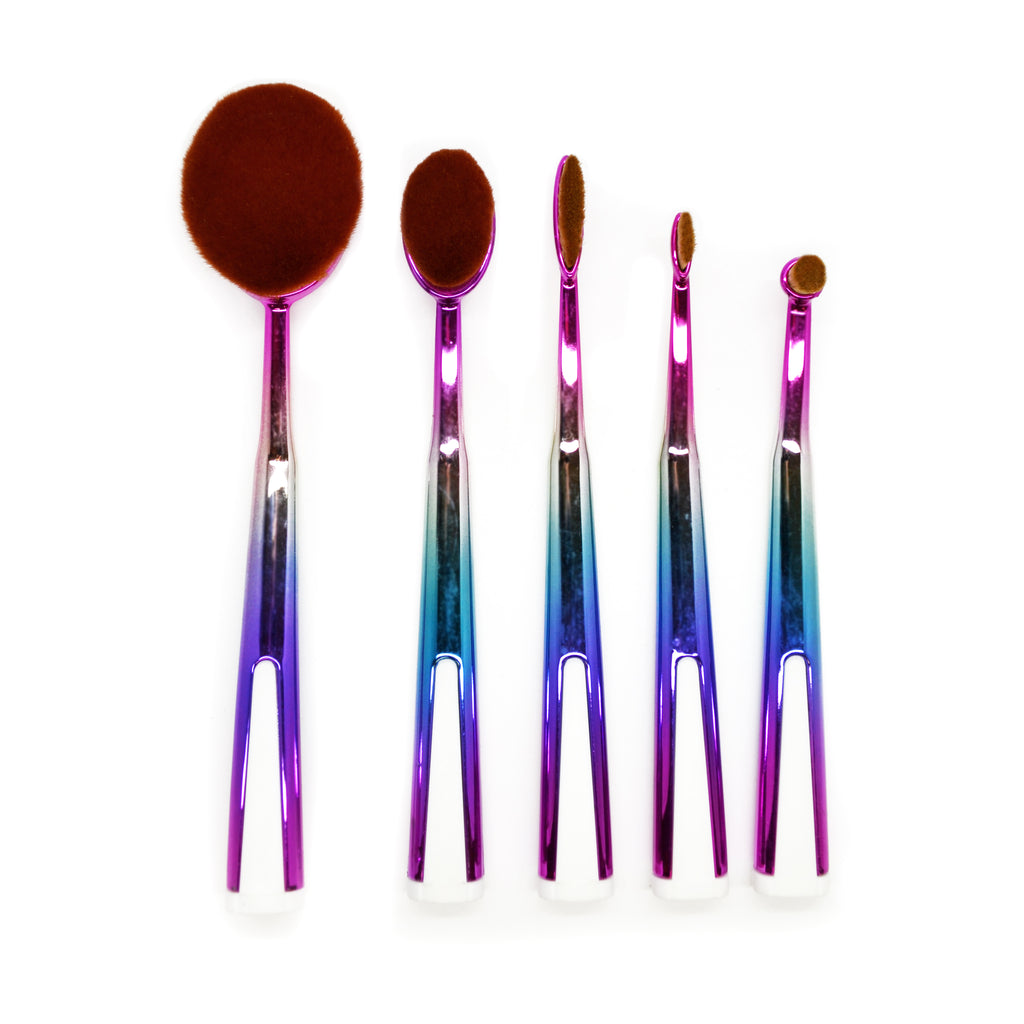 5 Piece Galaxy Oval Brush Set