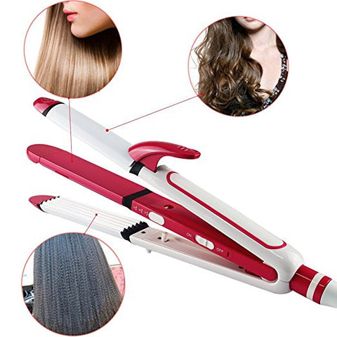 Ceramic 3-in-1 Iron - Curl, Crimp, Straighten