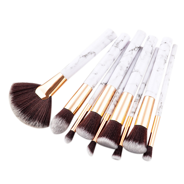 9 Piece Marble Lovers Brush Set