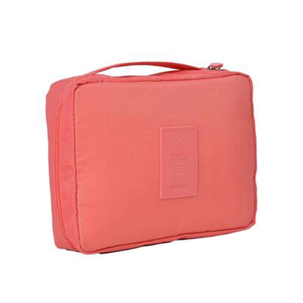 Compact Travel Cosmetic Bag Peach, Makeup Organizer - My Make-Up Brush Set, My Make-Up Brush Set  - 5