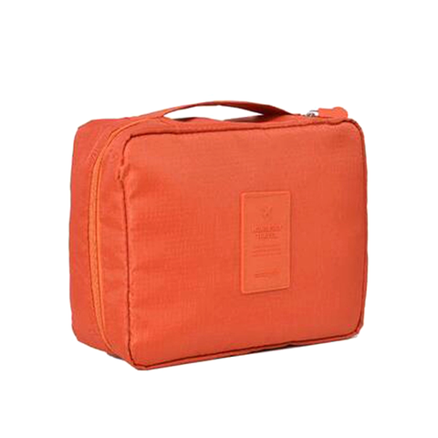 Compact Travel Cosmetic Bag Coral, Makeup Organizer - My Make-Up Brush Set, My Make-Up Brush Set  - 6