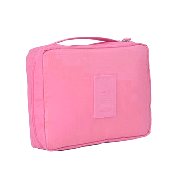 Compact Travel Cosmetic Bag LightPink, Makeup Organizer - My Make-Up Brush Set, My Make-Up Brush Set  - 3