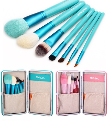 7 Piece Flower Make Up Brush Set