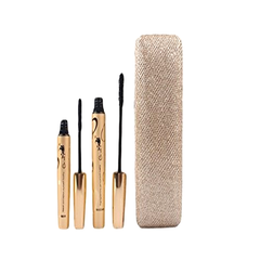 Thickening and Lengthening Black Mascara with Natural Fibres in Gold Display Case , Eye Tool - My Make-Up Brush Set, My Make-Up Brush Set  - 2