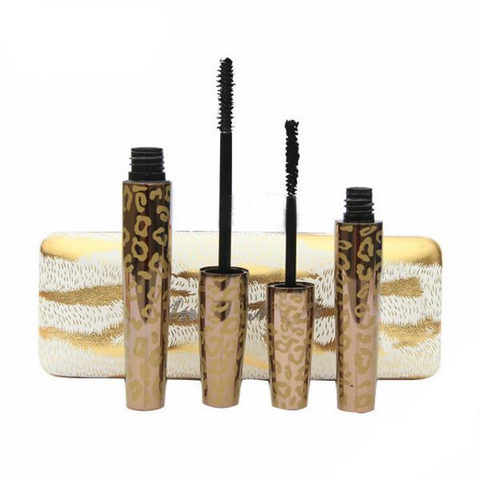 Leopard Mascara Set with 3D fiber lashes