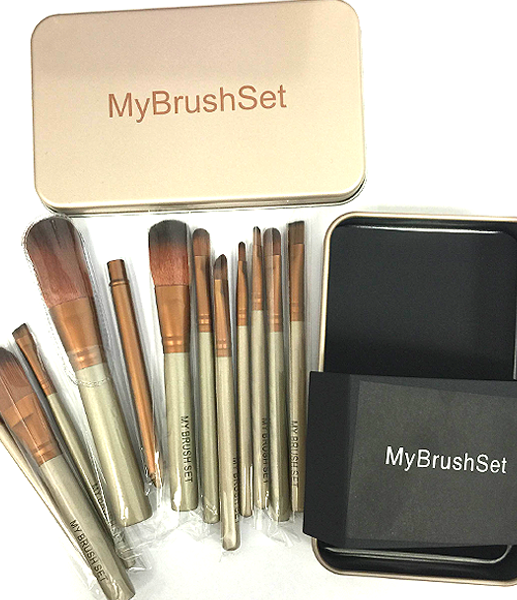 12 Piece Bronze Brush Set , Make Up Brush - My Make-Up Brush Set, My Make-Up Brush Set  - 3