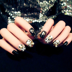 Black Rhinestone Finished Nails  [PRE-RELEASE] , Nail - My Make-Up Brush Set, My Make-Up Brush Set  - 1