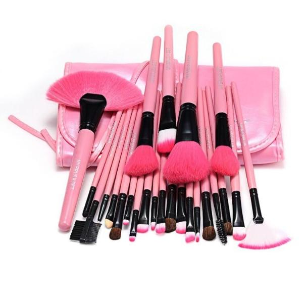 24 Piece Pink Glory Brush Set with Free Case , Make Up Brush - MyBrushSet, My Make-Up Brush Set  - 3
