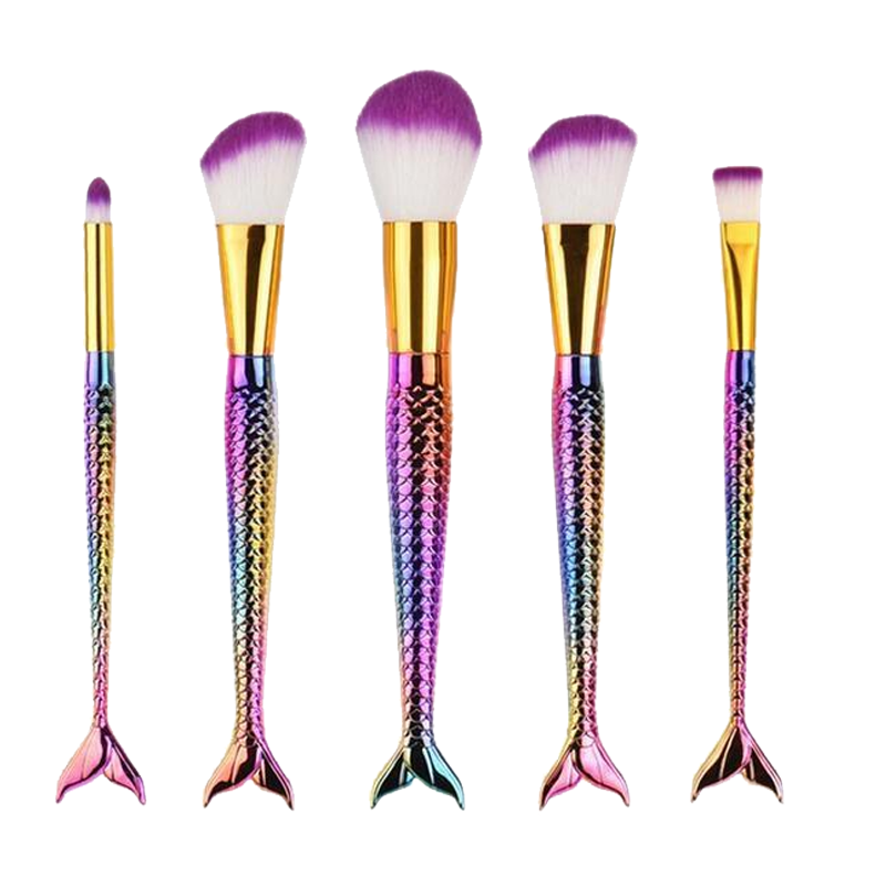 5 Piece I Am Mermaid Brush Set