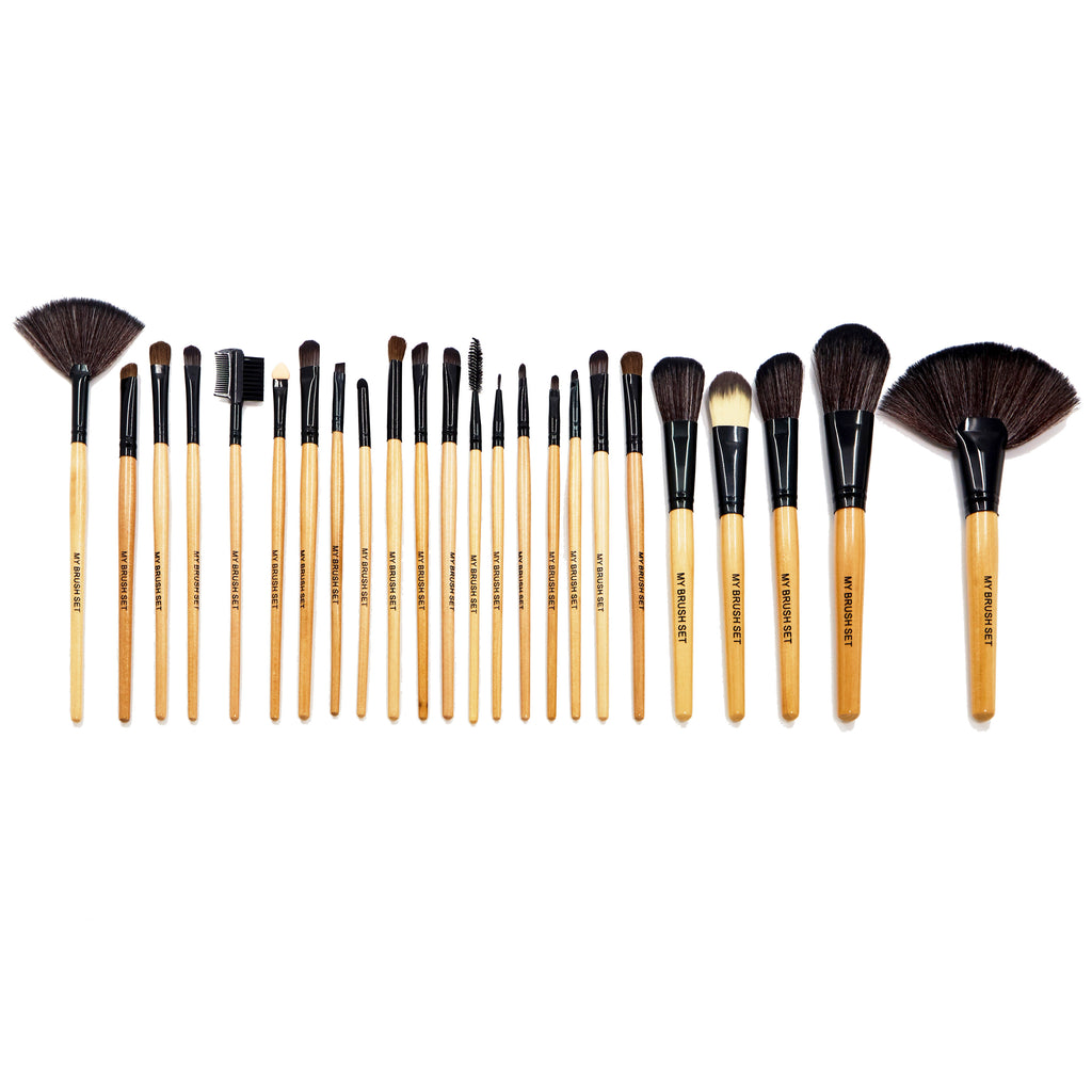 24 Piece Premium Wood Brush Set
