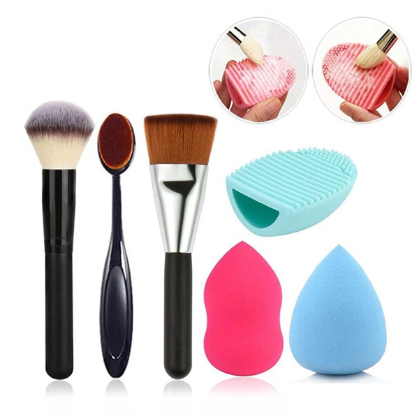 6 Piece Brush Sponge Combo ,  - My Make-Up Brush Set, My Make-Up Brush Set  - 1
