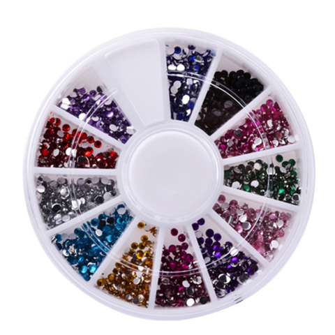 12 Color Nailart Manicure Wheels