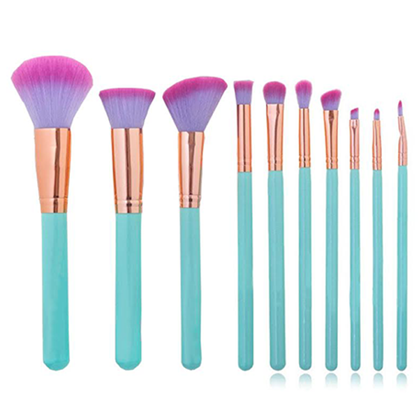 10 Piece Ultra-Chic Mermaid Shell Brush Set