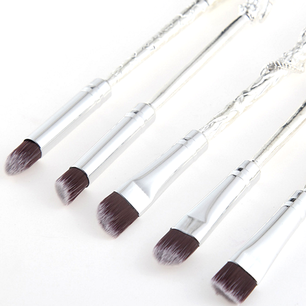 5 Piece Silver Plated Inspired Brush Set
