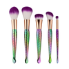 5 Piece Rainbow Mermaid Brush Set