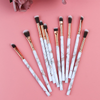 10 Piece Marble Eye Brush Set