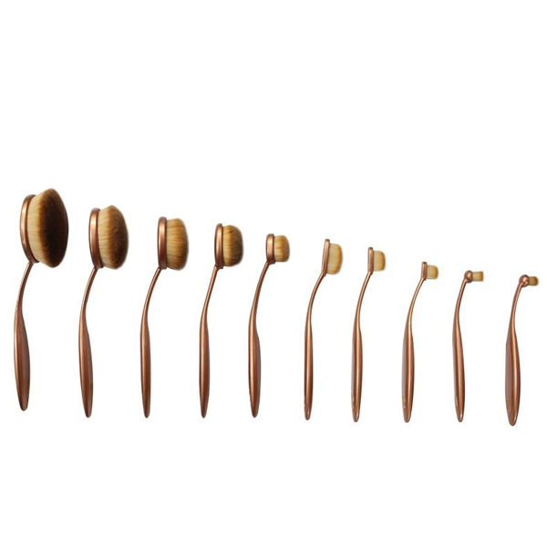 'The Midas Touch' 10 Piece Oval Brush Set ,  - My Make-Up Brush Set, My Make-Up Brush Set  - 4