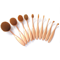 'The Midas Touch' 10 Piece Oval Brush Set ,  - My Make-Up Brush Set, My Make-Up Brush Set  - 6