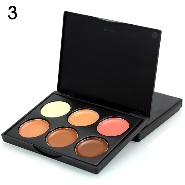 6 Color Makeup Concealer Cream Contour Palette ,  - My Make-Up Brush Set - US, My Make-Up Brush Set  - 4