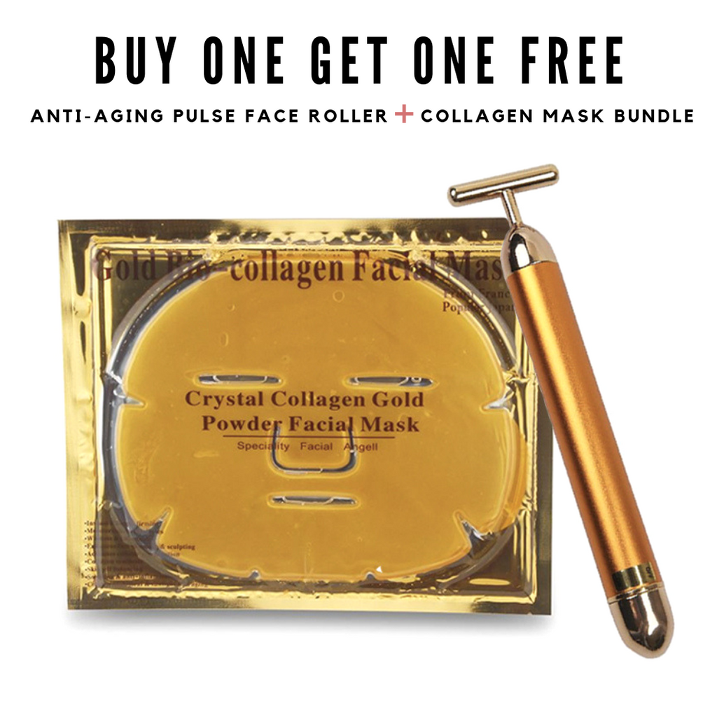 Anti-Aging Pulse Face Roller + Collagen Mask Bundle