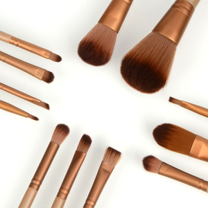 12 Piece Bronze Brush Set , Make Up Brush - My Make-Up Brush Set, My Make-Up Brush Set  - 2