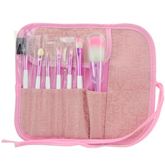 7 Piece Soft Pink Brush Set , Make Up Brush - MyBrushSet, My Make-Up Brush Set  - 2