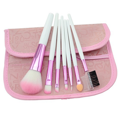7 Piece Soft Pink Brush Set , Make Up Brush - MyBrushSet, My Make-Up Brush Set  - 1