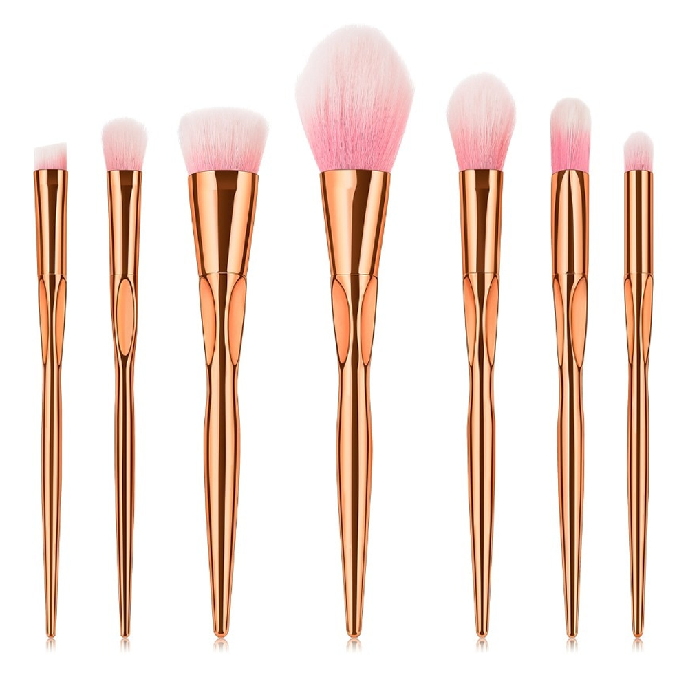7 Piece Diamond Hologram Brush Set