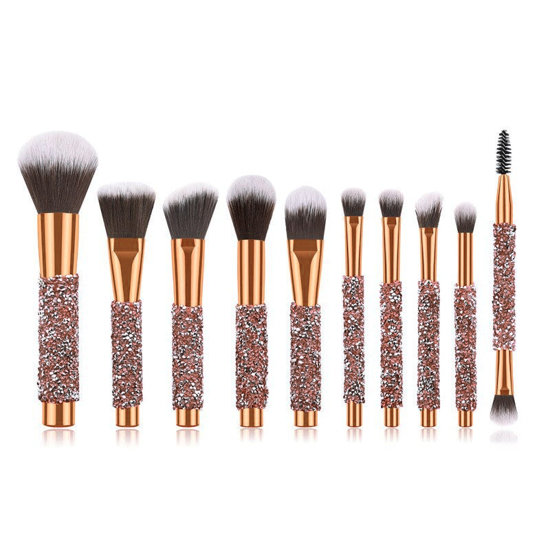 10 Piece Diamond Dust Brush Set