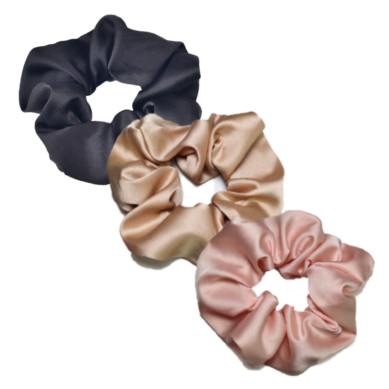 Set of 3 Silk Scrunchies