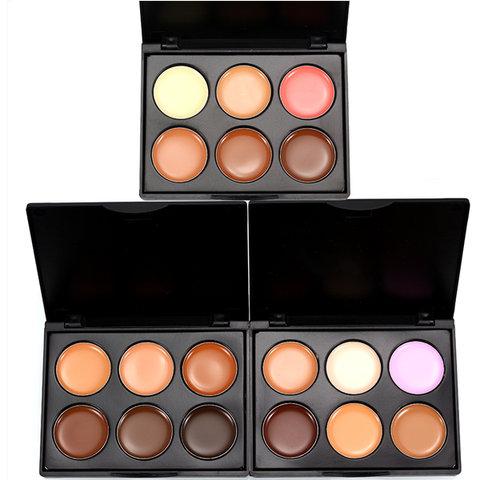 6 Color Makeup Concealer Cream Contour Palette