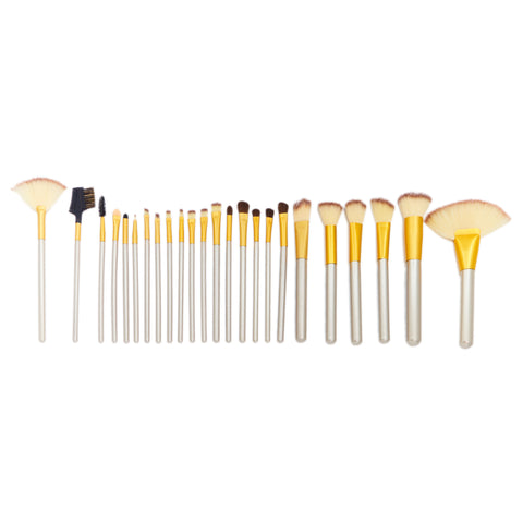 24 Piece Crushed Mocha Brush Set