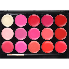 15 Color Lip Gloss palette , Beauty Blender - My Make-Up Brush Set, My Make-Up Brush Set