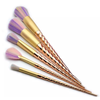 5 Piece Gold Twisted Unicorn Makeup Brush Set