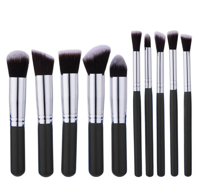 10 Piece Mini Travel Kabuki Brush Set