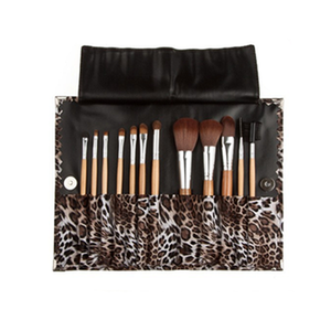 Leopard Skin 12 Piece Makeup Brush Set