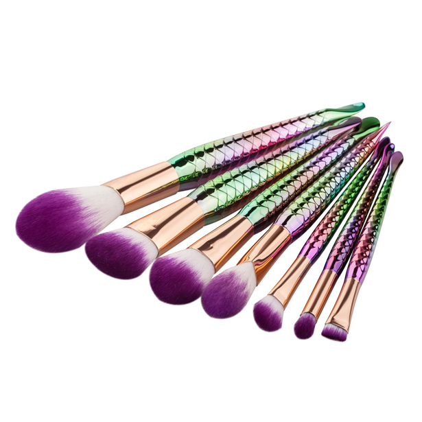 Rainbow Mermaid Brush Set