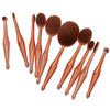 10 Piece Metallic Gold Oval Brush Set ,  - My Make-Up Brush Set, My Make-Up Brush Set  - 2
