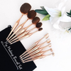 10 Piece Metallic Gold Oval Brush Set