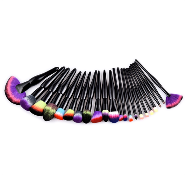 22 Piece Midnight Rainbow Brush Set
