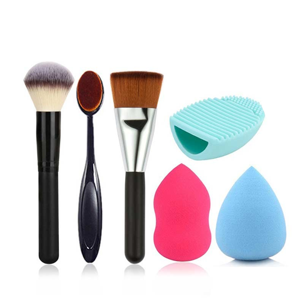 6 Piece Brush Sponge Combo ,  - My Make-Up Brush Set, My Make-Up Brush Set  - 3
