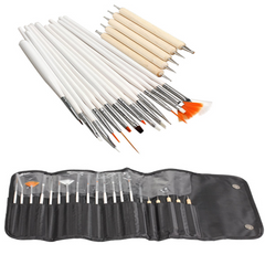 Professional 20pc Nail Art Set , Make Up Brush - MyBrushSet, My Make-Up Brush Set  - 1