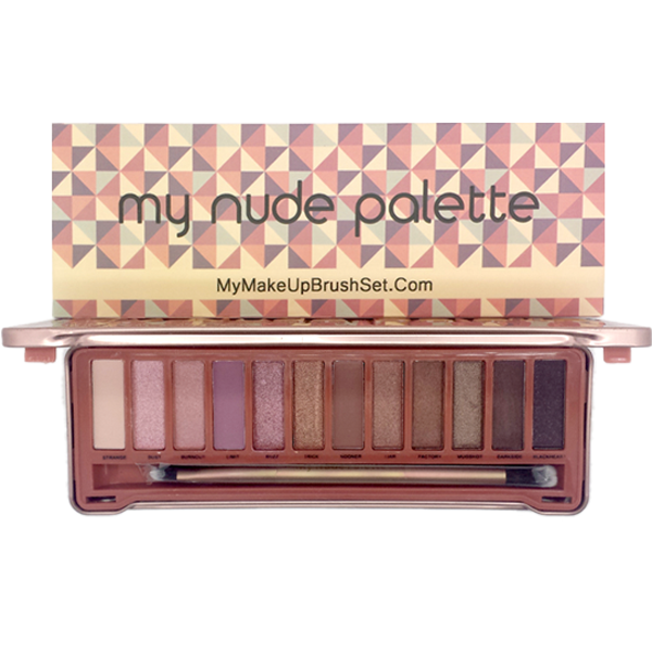 My-Nude Color Palette Eyeshadow , Make Up Brush - MyBrushSet, My Make-Up Brush Set  - 2