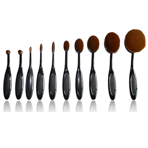 Vegan 10 Piece Oval Brush Set