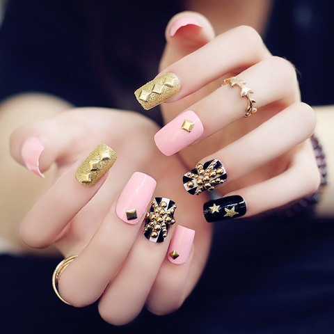 Acrylic Studded Nails