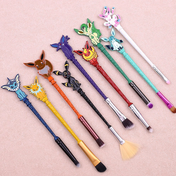 9 Piece Poké Inspired Makeup Brush Set