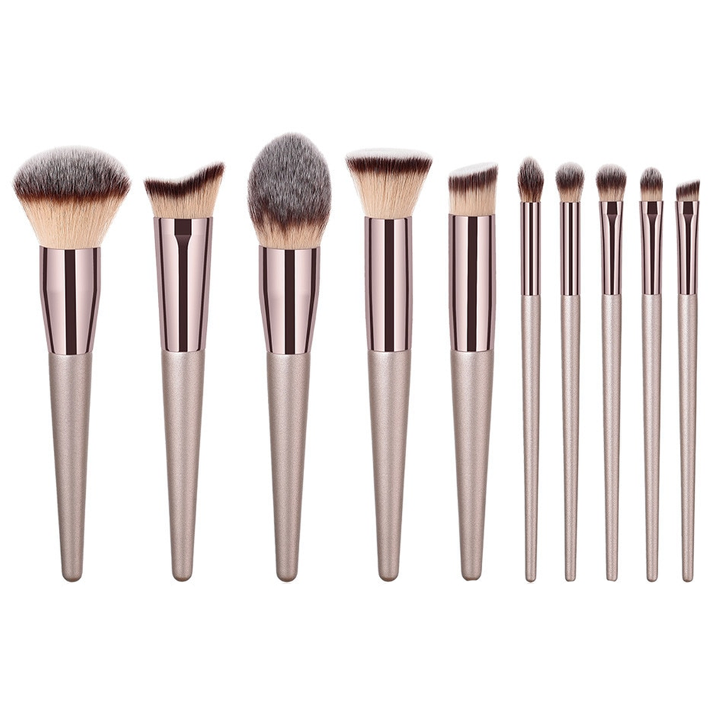 10 Piece Pop Champagne Brush Set