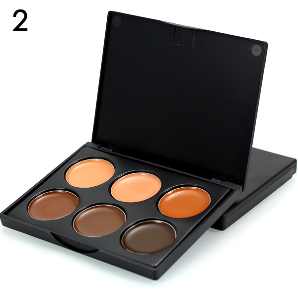 6 Color Makeup Concealer Cream Contour Palette ,  - My Make-Up Brush Set - US, My Make-Up Brush Set  - 3