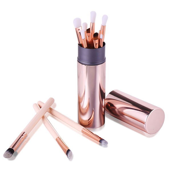 Rose Gold Perfect Eyes 12 Piece Makeup Brush Set