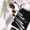 Aphrodite Silver Oval Brush Set (10 Piece)